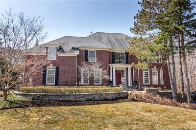 West Bloomfield Twp MI Single Family Home For Sale: $845,000