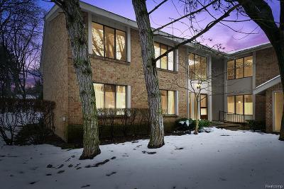 West Bloomfield Twp Condo/Townhouse For Sale: 7412 Pebble Point