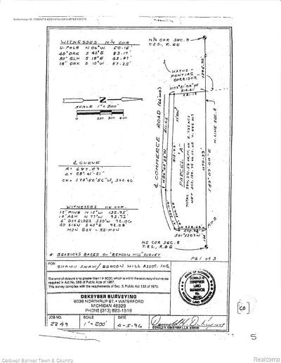 Commerce Twp Residential Lots & Land For Sale: Parcel A Commerce Rd