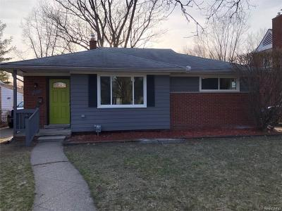 Royal Oak Single Family Home For Sale: 2507 Ferncliff Avenue