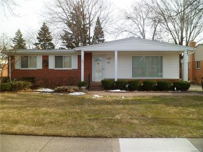 Ferndale,  Royal Oak, Berkley Single Family Home For Sale: 4019 Springer Avenue