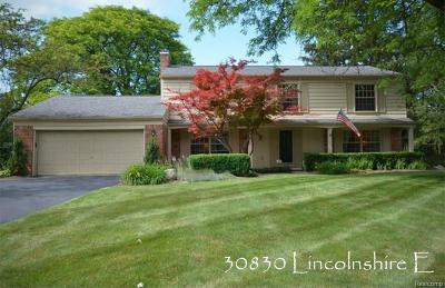Beverly Hills Single Family Home For Sale: 30830 Lincolnshire E