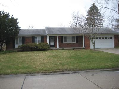 Troy Single Family Home For Sale: 6143 Walker Drive