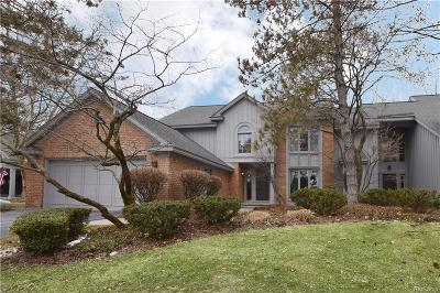 West Bloomfield, West Bloomfield Twp Condo/Townhouse For Sale: 4925 Fairway Ridge Circle