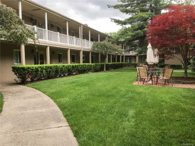 Birmingham MI Condo/Townhouse For Sale: $127,000