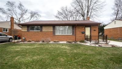 Livonia Single Family Home For Sale: 14609 Stonehouse Avenue