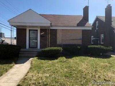 Detroit Single Family Home For Sale: 20526 Freeland Street