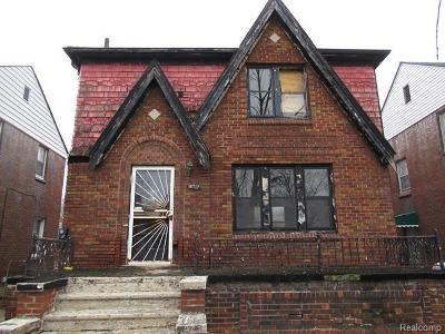 Detroit Single Family Home For Sale: 14717 Flanders Street