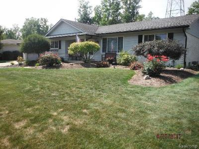 Shelby Twp Single Family Home For Sale: 5291 Vincent Trail