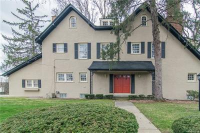 Birmingham, Bloomfield Hills Single Family Home For Sale: 160 E Long Lake Road