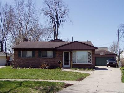 Westland Single Family Home For Sale: 1632 Ashby Street