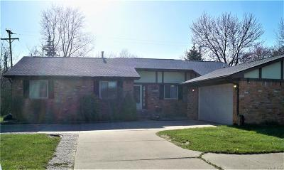 TROY Single Family Home For Sale: 3887 John R Road