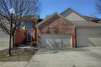 Shelby Twp Condo/Townhouse For Sale: 55419 Boardwalk Drive