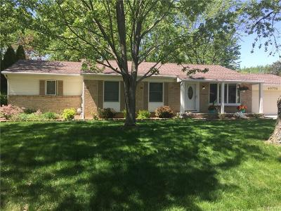 Novi MI Single Family Home For Sale: $329,900