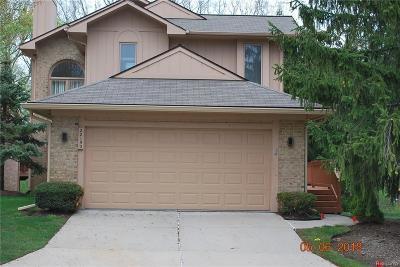 Farmington Hills Condo/Townhouse For Sale: 22150 River Ridge Trail #110