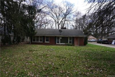 Southfield Single Family Home For Sale: 19115 W Nine Mile Road