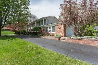 Bloomfield Twp Single Family Home For Sale: 729 E Valley Chase Road