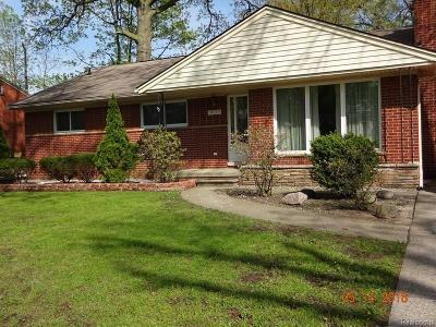 Dearborn Single Family Home For Sale: 19295 Outer Drive