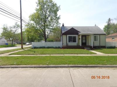 Dearborn Heights Single Family Home For Sale: 5907 Whitefield Street