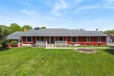 Livingston County Single Family Home For Sale: 6415 Hogan Road