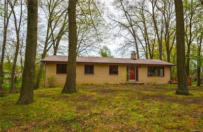 Clarkston, Lake Orion Vlg, Orion Twp, Independence Twp, Oxford Twp, Oxford Vlg Single Family Home For Sale: 8850 Woodlawn Avenue