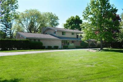 Sterling Heights, Washington, Washington Twp, Bloomfield Hills, Bloomfield Twp, Novi, Royal Oak, Royal Oak Twp Single Family Home For Sale: 7199 Chula Vista Lane