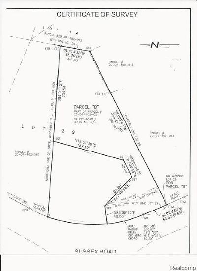 Troy Residential Lots & Land For Sale: 5800 Sussex Drive