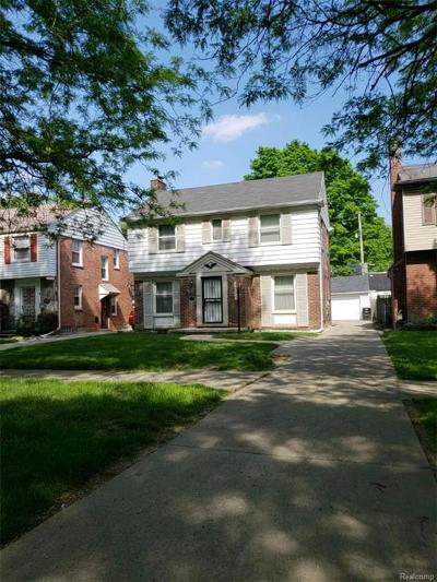 Detroit Single Family Home For Sale: 14394 Faust Avenue