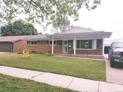 Livonia Single Family Home For Sale: 27421 Buckingham Street