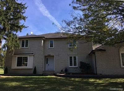Rochester Hills Single Family Home For Sale: 1824 N Adams Road