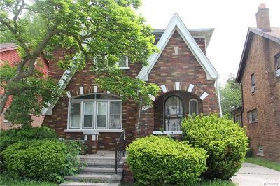 Detroit Single Family Home For Sale: 5950 Kensington Avenue