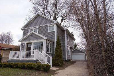 Royal Oak Single Family Home For Sale: 631 E University Avenue