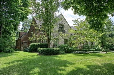 Birmingham MI Single Family Home For Sale: $1,450,000