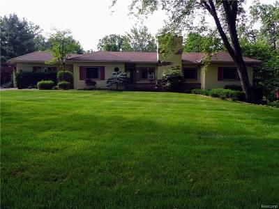 Single Family Home For Sale: 41901 Woodbrook Drive