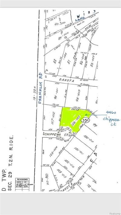 Bloomfield Twp Residential Lots & Land For Sale: 4460 Chippewa Court