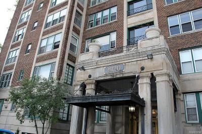 Detroit Condo/Townhouse For Sale: 8120 Jefferson Avenue #3A