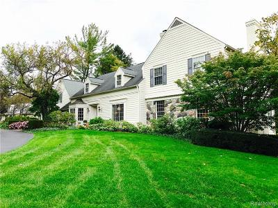 Bloomfield Hills Single Family Home For Sale: 261 Barden Road