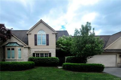 Bloomfield Twp Condo/Townhouse For Sale: 612 Deauville Lane