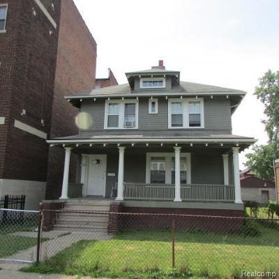 Detroit Single Family Home For Sale: 721 Hazelwood Street