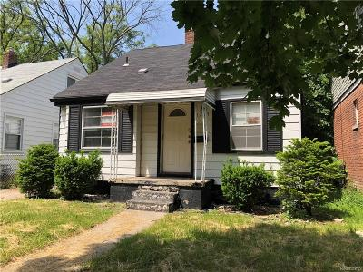 Detroit MI Single Family Home For Sale: $12,900
