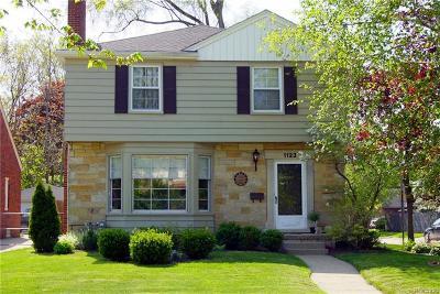 Royal Oak Single Family Home For Sale: 1123 N Washington Avenue