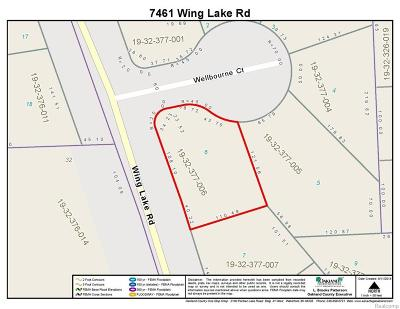 Bloomfield Twp Residential Lots & Land For Sale: 7461 Wing Lake