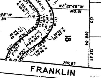 Bloomfield Twp Residential Lots & Land For Sale: Franklin Road