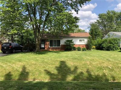 Oakland County Single Family Home For Sale: 90 Fernbarry Drive