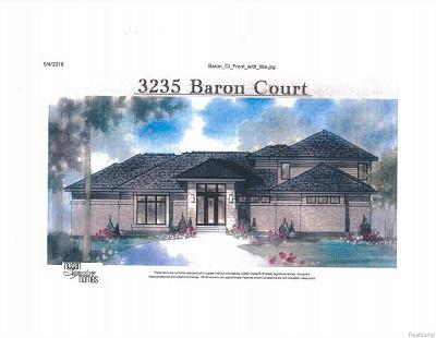 Bloomfield Twp Single Family Home For Sale: 3235 Baron Court