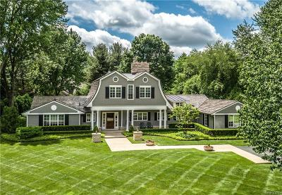 Bloomfield Twp MI Single Family Home For Sale: $1,375,000