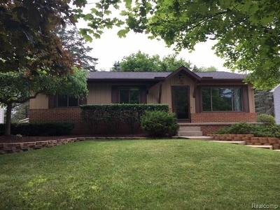 Single Family Home For Sale: 3408 Dianne Drive