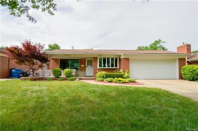 Garden City, Westland, Plymouth Twp, Canton Twp Single Family Home For Sale: 34502 Nancy Street