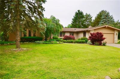 Farmington Hills Single Family Home For Sale: 31251 Applewood Lane