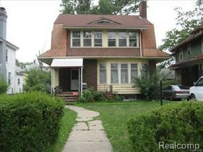 Oakland County, Macomb County, Wayne County Single Family Home For Sale: 861 Taylor Street
